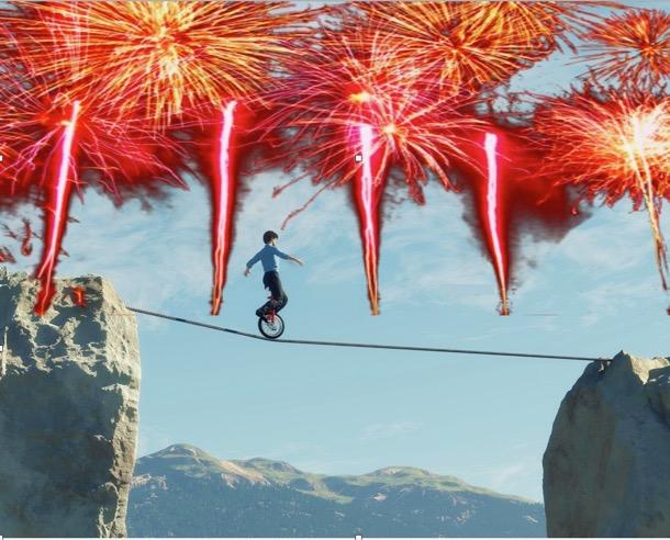 the tightrope walk