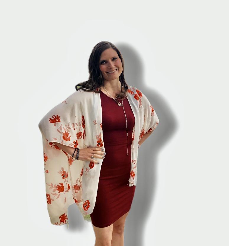 woman in flower dress